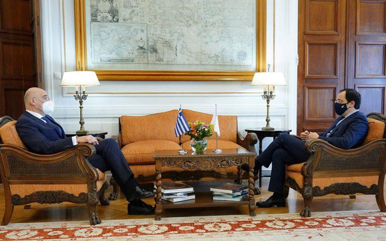 Δένδιας – Χριστοδουλίδης: Σε διαρκή, στενό συντονισμό Ελλάδα και Κύπρος