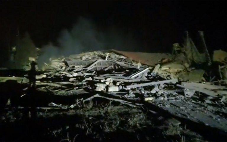 Ισχυρή έκρηξη ισοπέδωσε ξενοδοχείο στην Καστοριά