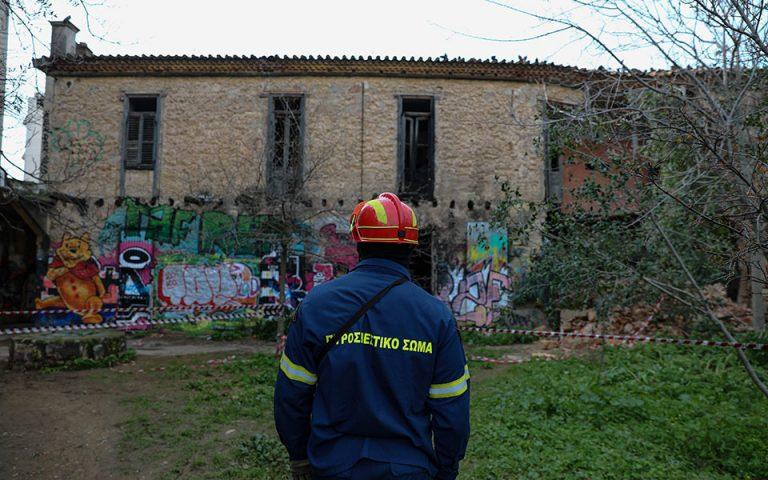 Έρευνα σε κτίριο που κατέρρευσε στα Ανω Πατήσια