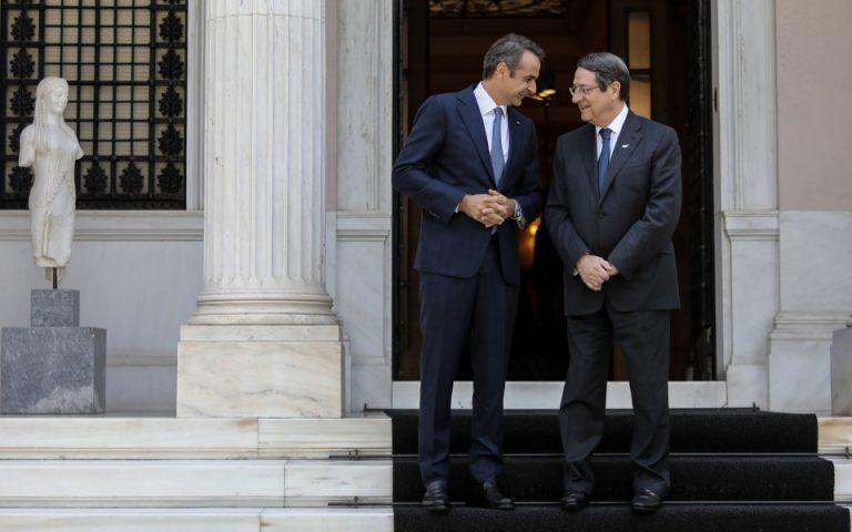 Επικοινωνία Μητσοτάκη – Αναστασιάδη για Κυπριακό