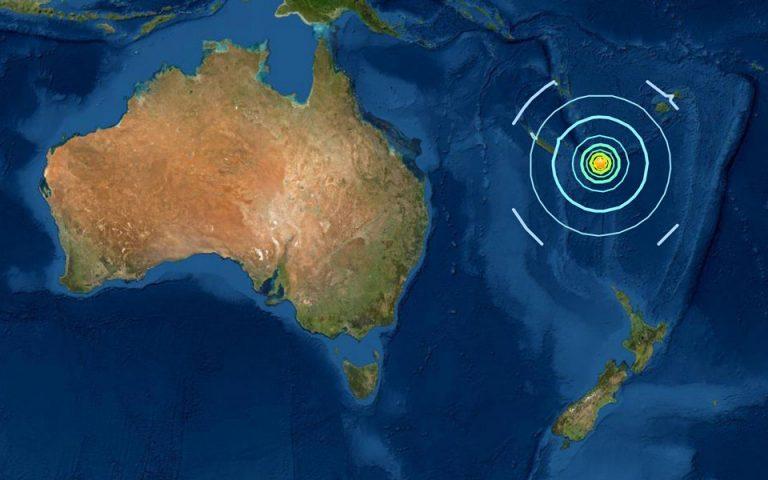 Σεισμός 7,6 Ρίχτερ στον νοτιοδυτικό Ειρηνικό