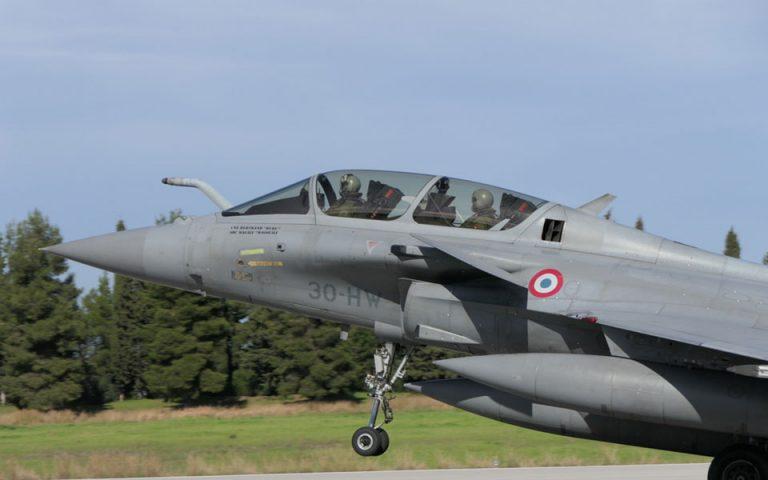 Στην Τανάγρα τέσσερα Rafale της γαλλικής Πολεμικής Αεροπορίας