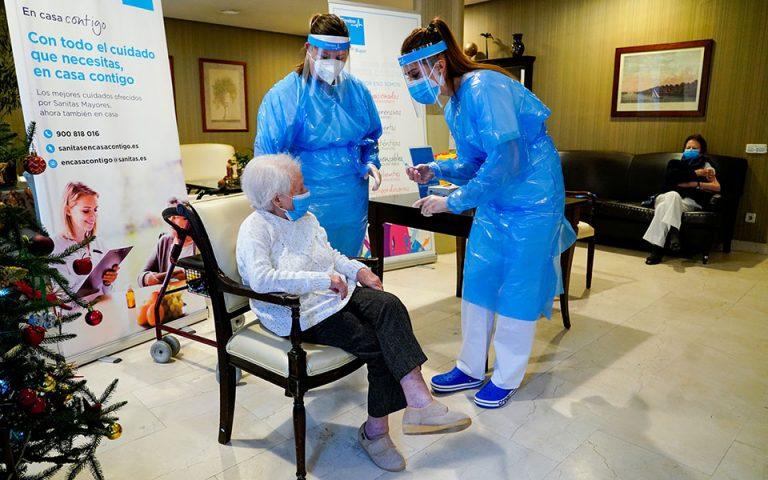 Ισπανία: Εμβολιάστηκαν σχεδόν όλοι οι τρόφιμοι οίκων ευγηρίας (εικόνες)