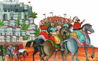 Μάχη της Λαγγάδας και Κομπότι (λεπτομέρεια).