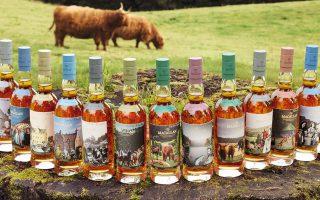 Η καινούργια σειρά 13 μοναδικών μπουκαλιών Macallan του Πίτερ Μπλέικ.