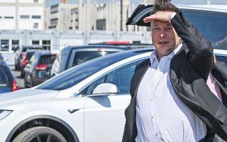 Αν υιοθετηθεί το μέτρο, ο Ελον Μασκ, ιδρυτής και επικεφαλής της καινοτόμου αυτοκινητοβιομηχανίας ηλεκτροκίνητων Tesla, θα οφείλει φόρους ύψους 4,6 δισ. δολαρίων για το 2020 (φωτ. A.P.).