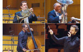 Σίσκος, Ραράκος και Τσουκαλάς υπό τη διεύθυνση του Στάθη Σούλη απέδωσαν με επιτυχία το πρόγραμμα της συναυλίας.