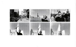 Πάκυ Βλασσοπούλου, Καρτ ποστάλ από τη Νέα Υόρκη (λεπτομέρεια), 2019. Από την έκθεση «Ο κύριος Ροβινσώνας Κρούσος έμεινε σπίτι. Περιπέτειες σχεδιασμού σε συνθήκες κρίσης». Μουσείο Μπενάκη Ελληνικού Πολιτισμού.