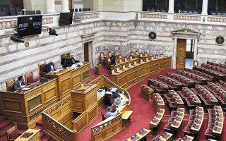 Στα χαρακώματα με την κυβέρνηση βρίσκεται η αντιπολίτευση, με φόντο την αυριανή επίκαιρη ερώτηση στη Βουλή (φωτ. INTIME NEWS).