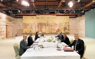 Στον προηγούμενο γύρο των διερευνητικών συνομιλιών στην Κωνσταντινούπολη (φωτ.) ήταν παρών και ο εκπρόσωπος της τουρκικής προεδρίας, Ιμπραχίμ Καλίν. Στις συναντήσεις της 16ης και της 17ης Μαρτίου δεν είναι ακόμη γνωστό αν ο κ. Καλίν θα έρθει στην Αθήνα, για να φέρει και κάποιο μήνυμα. (Φωτ. EPA)
