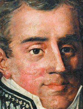 Προσωπογραφία του Ιωάννη Καποδίστρια με τη στολή και τα παράσημα του υπουργού Εξωτερικών της Ρωσίας. Ελαιογραφία που αποδίδεται στον Γεράσιμο Πιτζαμάνο, π. 1819.  Φωτ. ΕΘΝΙΚΟ ΙΣΤΟΡΙΚΟ ΜΟΥΣΕΙΟ