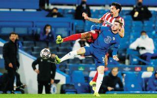 Η Τσέλσι επικράτησε με 2-0 της Ατλέτικο Μαδρίτης στο Λονδίνο και σε συνδυασμό με τη νίκη της στο πρώτο παιχνίδι με 1-0 πήρε την πρόκριση για τους προημιτελικούς του Τσάμπιονς Λιγκ (φωτ. A.P. Photo).