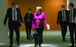 Σε τέλμα βυθίζεται το κόμμα της Γερμανίδας καγκελαρίου Αγκελα Μέρκελ, λίγους μήνες πριν από την οριστική αποχώρησή της από τον πολιτικό στίβο. Φωτ. EPA / Omer Messinger