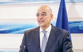 Κατά τη χθεσινή συνεδρίαση του Εθνικού Συμβουλίου Εξωτερικής Πολιτικής, ο κ. Δένδιας απάντησε εμμέσως πλην σαφώς και στις τελευταίες ακραίες δηλώσεις του Χουλουσί Ακάρ, λέγοντας ότι για να πραγματοποιηθεί η συνάντηση με τον κ. Τσαβούσογλου πρέπει να διατηρηθούν οι κατάλληλες συνθήκες (φωτ. ΑΠΕ-ΜΠΕ / ΥΠΟΥΡΓΕΙΟ ΕΞΩΤΕΡΙΚΩΝ / ΧΑΡΗΣ ΑΚΡΙΒΙΑΔΗΣ).
