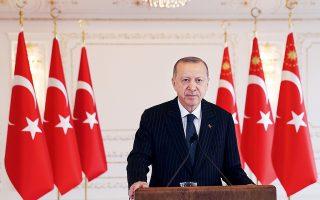 Μια ήττα του Τούρκου προέδρου Ρετζέπ Ταγίπ Ερντογάν το 2023 θα άνοιγε την προοπτική να βρεθεί αντιμέτωπος με δικαστικές διώξεις για σκάνδαλα. (Φωτ. Turkish Presidency via A.P., Pool)