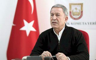 «Στρατηγικός στόχος της Τουρκίας είναι οι σχέσεις με την Ε.Ε.», υποστήριξε ο Τούρκος υπουργός Αμυνας, Χουλουσί Ακάρ (φωτ. A.P.).