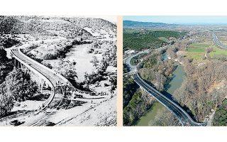 «Η γέφυρα του Πηνειού ήταν αρκετά πολύπλοκη κατασκευή για την εποχή της. Μου έκανε εντύπωση ο σχεδιασμός της», λέει στην «Κ» ο Δημοσθένης Παπακριβόπουλος, διευθυντής της κοινοπραξίας κατασκευής του έργου «Μαλιακός - Κλειδί».
