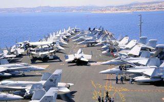 Το αεροπλανοφόρο «Dwight D. Eisenhower» βρίσκεται από το βράδυ της Τετάρτης στην ευρύτερη περιοχή της Κρήτης, ενώ τα επόμενα 24ωρα δεν αποκλείεται και η στάθμευσή του στη βάση της Σούδας (φωτ. ΑΠΕ ΜΠΕ/ΝΙΚΟΛΑΣ ΝΑΝΕΦ).