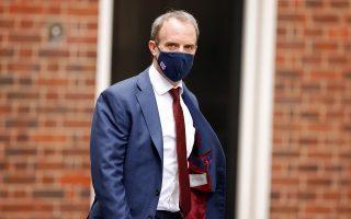 Ο Βρετανός υπουργός Εξωτερικών Ντόμινικ Ράαμπ (φωτ.: Reuters)