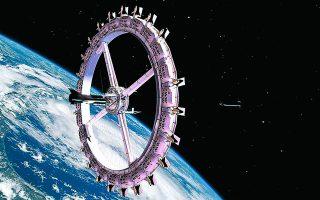 Ο διαστημικός σταθμός Voyager θα διαθέτει 400 δωμάτια, εστιατόρια, κινηματογράφο, μπαρ, βιβλιοθήκες, γυμναστήρια, ακόμη και spa. Φωτ. Orbital Assembly Corporation