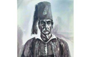 Ο Θεόδωρος Κολοκοτρώνης όπως τον ζωγράφισε ο Benjamin Mary, στις 7 Απριλίου 1842.