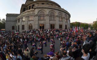 Σημερινές εκδηλώσεις μνήμης στο Ερεβάν. Hayk Baghdasaryan/Photolure via REUTERS
