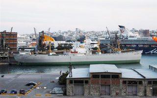 Το πλωτό μουσείο «Hellas Liberty», στον Πειραιά.