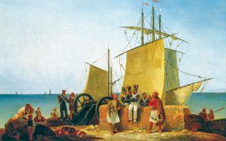 «H Γαλλική Aποστολή στον Mοριά», έργο του Νοέλ Φινέρ του 1828. © Noël D. Finert,/Μουσείο Μπενάκη