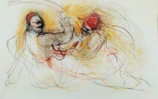 Εργο του Θανάση Μακρή από την ομαδική εικονική έκθεση «Λόγος περί Ελευθερίας», για την επέτειο των 200 χρόνων από την Ελληνική Επανάσταση. Γκαλερί Σκουφά. Σκουφά 4, Κολωνάκι, Αθήνα - Δήλου 12, Χώρα Μυκόνου.