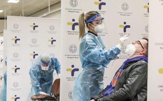 Δωρεάν rapid tests πραγματοποιήθηκαν χθες από κλιμάκια του ΕΟΔΥ, στον σταθμό του μετρό στο Σύνταγμα (φωτ. INTIME NEWS).