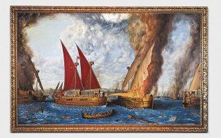 Η έκθεση του Ελευθέριου Κλουβάτου «Ναυμαχίες» παρουσιάζεται διαδικτυακά από την γκαλερί Heavenly Path Art.