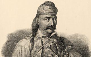 O Kολοκοτρώνης, σχεδιασμένος «εκ του φυσικού από τον λοχαγό Kρατσάιζεν».