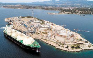 Ο ΔΕΣΦΑ κατασκευάζει ήδη και αναμένεται να ολοκληρώσει το 2021 σταθμό φόρτωσης βυτιοφόρων LNG (Truck loading station) στη Ρεβυθούσα.