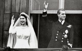 Φίλιππος και Ελισάβετ παντρεύτηκαν στις 20/11/1947. (Φωτ. A.P.)