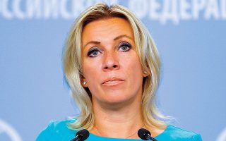 Η εκπρόσωπος Τύπου του ρωσικού ΥΠΕΞ, Μαρία Ζαχάροβα, σχολίασε ότι οι νέες κυρώσεις δεν βοηθούν την εξομάλυνση των σχέσεων Ρωσίας - ΗΠΑ (φωτ. A.P.).