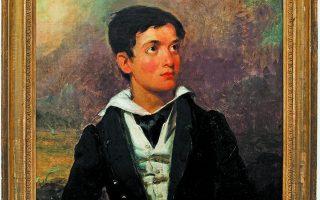 Προσωπογραφία του Γιώργου Σαρηγιάννη, ο οποίος σε ηλικία 6 χρόνων διεσώθη από αμερικανικό πολεμικό πλοίο.