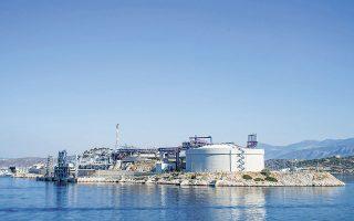 Μέσω του τερματικού σταθμού LNG της Ρεβυθούσας (σημείο εισόδου Αγ. Τριάδα) πραγματοποιήθηκε το 30,37% των εισαγωγών (5,82 TWh). Φωτ. ΙΝΤΙΜΕ.