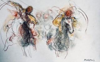 Ο Θανάσης Μακρής εκθέτει περί τα 35 σχέδια στην γκαλερί του Βόλου, χώρο τέχνης «δ.».