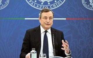 Ο Ιταλός πρωθυπουργός Μάριο Ντράγκι θα παρουσιάσει το σχετικό σχέδιο στο Κοινοβούλιο στις αρχές της επόμενης εβδομάδας (φωτ. Reuters).
