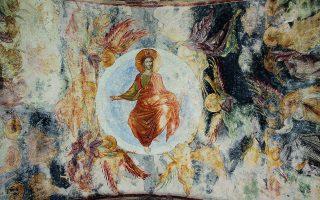«Τότε ουν εισήλθε και ο άλλος ο μαθητής ο ελθών πρώτος εις το μνημείον, και ειδέ και επίστευσεν· ουδέπω γαρ ήδεισαν την γραφήν ότι δει αυτόν εκ νεκρών αναστήναι», Κατά Ιωάννην, 20.8-9». Η Ανάστασις του Κυρίου, τοιχογραφία από την Αγία Σοφία της Τραπεζούντας. Φωτ. SHUTTERSTOCK