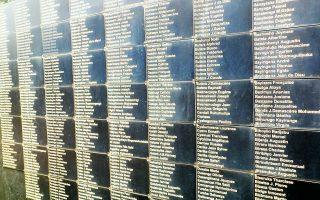 Στη γενοκτονία της Ρουάντας (στη φωτ., ονόματα θυμάτων σε μαζικό τάφο στο Κιγκάλι) υπήρξαν και Χούτου, λίγοι, που βοήθησαν Τούτσι να σωθούν. Φωτ. SHUTTERSTOCK