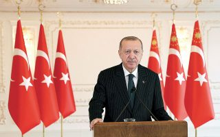 Σύμφωνα με την έκθεση του JINSA, η πρόσφατη προσπάθεια του Τούρκου προέδρου Ταγίπ Ερντογάν για επανεκκίνηση των σχέσεων με τις ΗΠΑ και άλλες δυτικές χώρες θεωρείται «ανειλικρινής», καθώς υπαγορεύεται από την πολιτική πίεση που δέχεται στο εσωτερικό της χώρας (φωτ. Turkish Presidency via A.P., Pool).