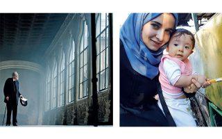 Ο Μιγκέλ ντε Ουναμούνο στο «Οσο κρατά ο πόλεμος» και η σκηνοθέτις του ντοκιμαντέρ «Για τη μικρή Σάμα» Ουάντ Αλ-Κατέμπ με την κόρη της.
