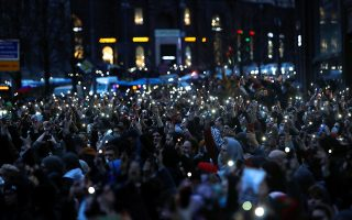 Διαδηλωτές υπέρ του Ναβάλνι στους δρόμους της Μόσχας - REUTERS/Maxim Shemetov