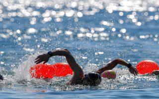 Εντυπωσιακή λήψη από τους κολυμβητικούς αγώνες στο Πευκί του Δήμου Ιστιαίας-Αιδηψού  @ Angelos Zymaras, Αυθεντικός Μαραθώνιος Κολύμβησης