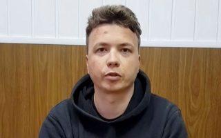 Στιγμιότυπο από το βίντεο που δόθηκε στη δημοσιότητα μετά τη σύλληψη του Ρομάν Προτάσεβιτς. Φωτ. REUTERS
