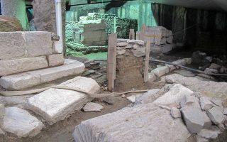 Μετά την αποκάλυψη των αρχαιοτήτων στον σταθμό Βενιζέλου στη Θεσσαλονίκη, όλες οι εργασίες έχουν σταματήσει, εν αναμονή της απόφασης του Συμβουλίου της Επικρατείας (φωτ. INTIME NEWS).