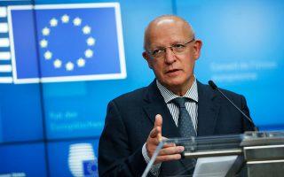 Ο υπουργός Εξωτερικών της προεδρεύουσας στην Ε.Ε. Πορτογαλίας, Αουγκούστο Σάντος Σίλβα (Φωτ. AP Photo/Francisco Seco, Pool).