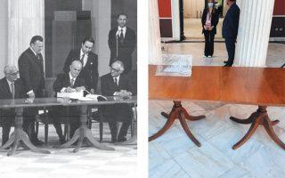 Το ίδιο τραπέζι, 42 χρόνια μετά βγήκε από την αποθήκη.