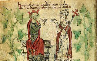 Ο βασιλιάς Ερρίκος Β΄ και ο Τόμας Μπέκετ, πρώην φίλοι που έγιναν άσπονδοι εχθροί.